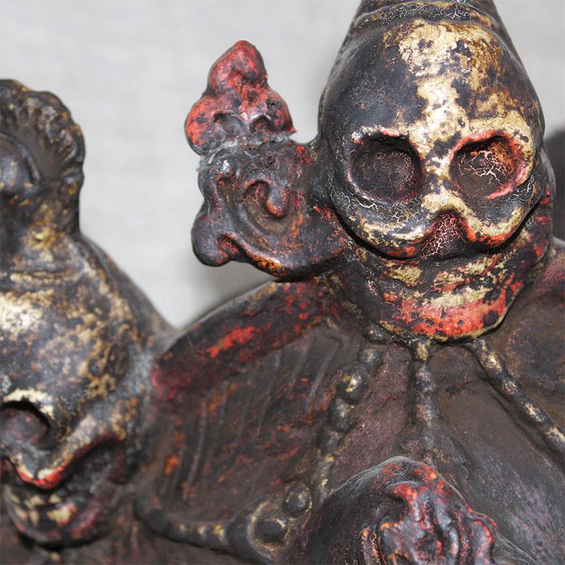 ペーパーマッシュマスク(お面) マハーカーラ アンティーク ブータン 20020002