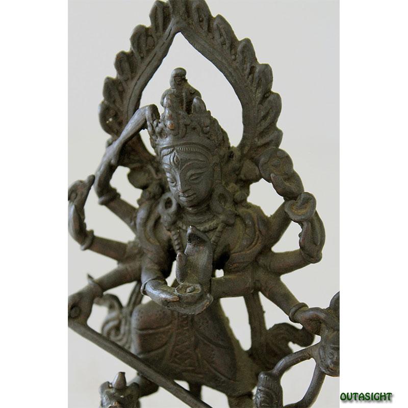 ネパール 女神像 ドゥルガー 真鍮製 NAS-12