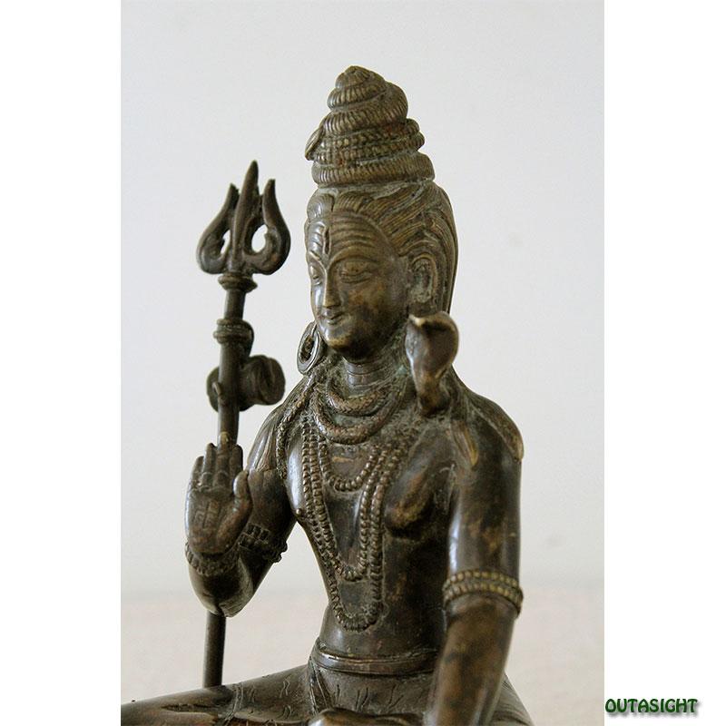 ネパール神様像 シヴァ 真鍮製 NAS-13