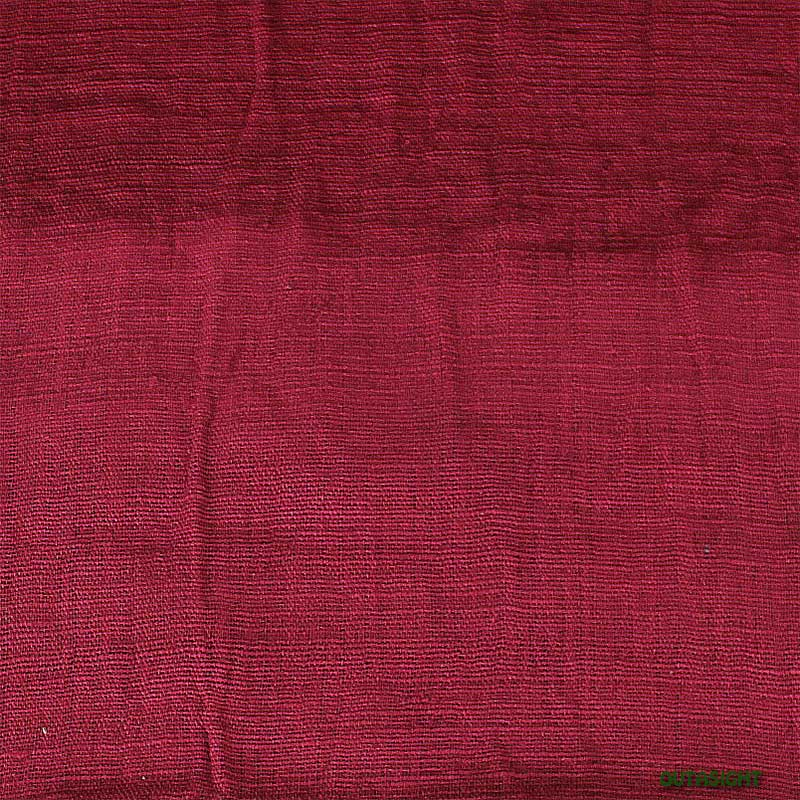 タイ コットン(木綿)反物生地 手紡ぎ 手織 真紅色 TNT-17
