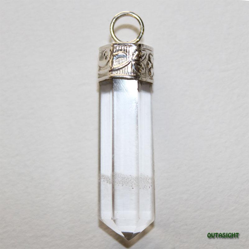 クォーツ(水晶)六角柱 シルバー ペンダントトップ NS-46