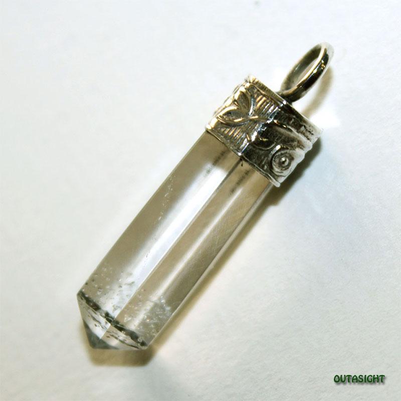クォーツ(水晶)六角柱 シルバー ペンダントトップ NS-47