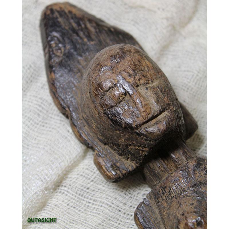 木彫り像 タル族 アンティーク ネパール NAS-27