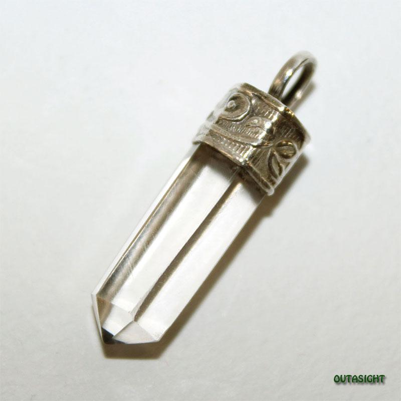 クォーツ(水晶)六角柱 シルバー ペンダントトップ NS-51