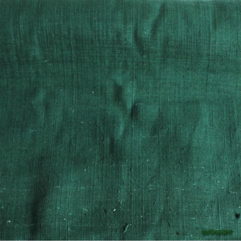 タイ コットン(木綿)反物生地 手紡ぎ 手織 萌葱色 TNT-25