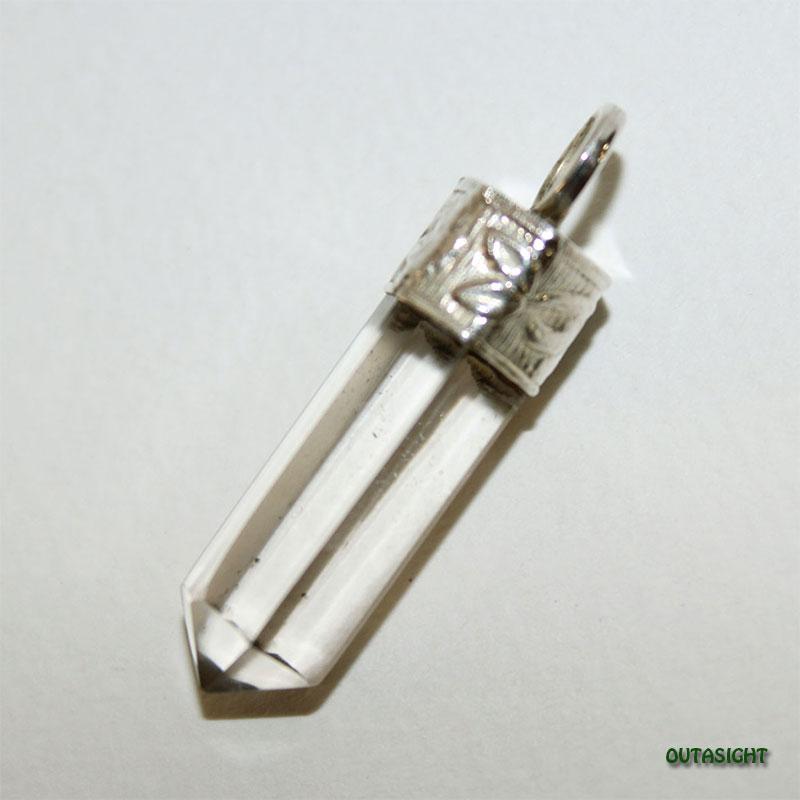 クォーツ(水晶)六角柱 シルバー ペンダントトップ NS-52