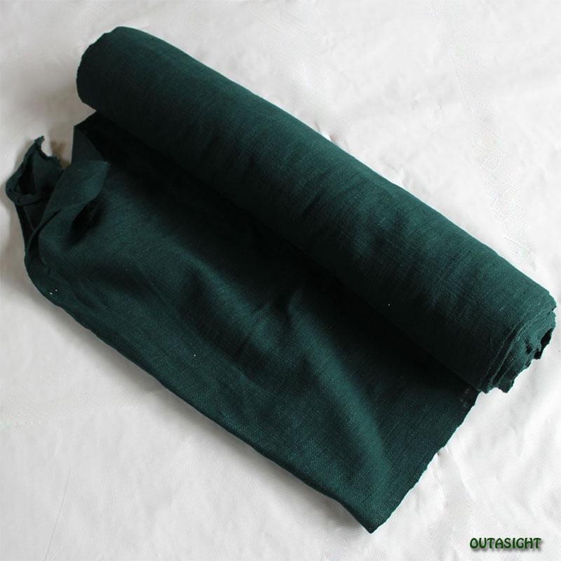 タイ コットン(木綿)反物生地 手紡ぎ 手織 鉄色 TNT-26