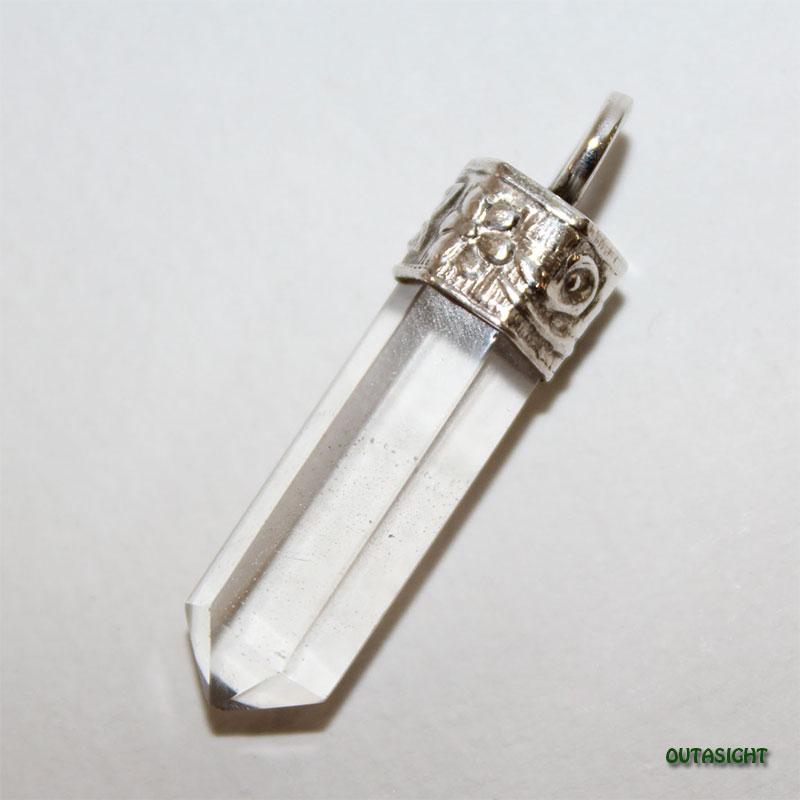 クォーツ(水晶)六角柱 シルバー ペンダントトップ NS-53