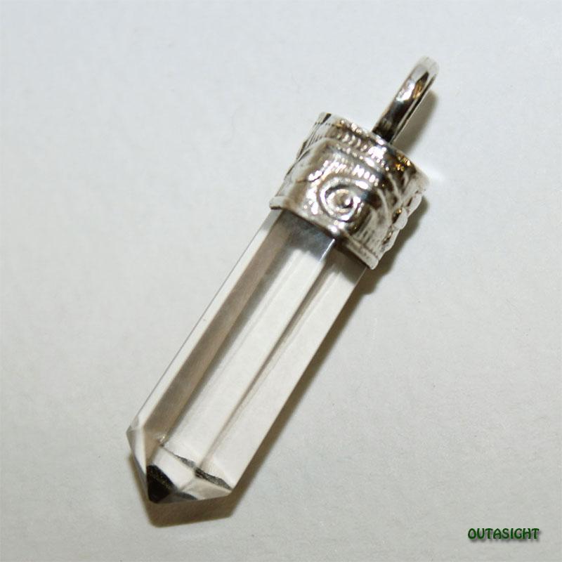 クォーツ(水晶)六角柱 シルバー ペンダントトップ NS-54