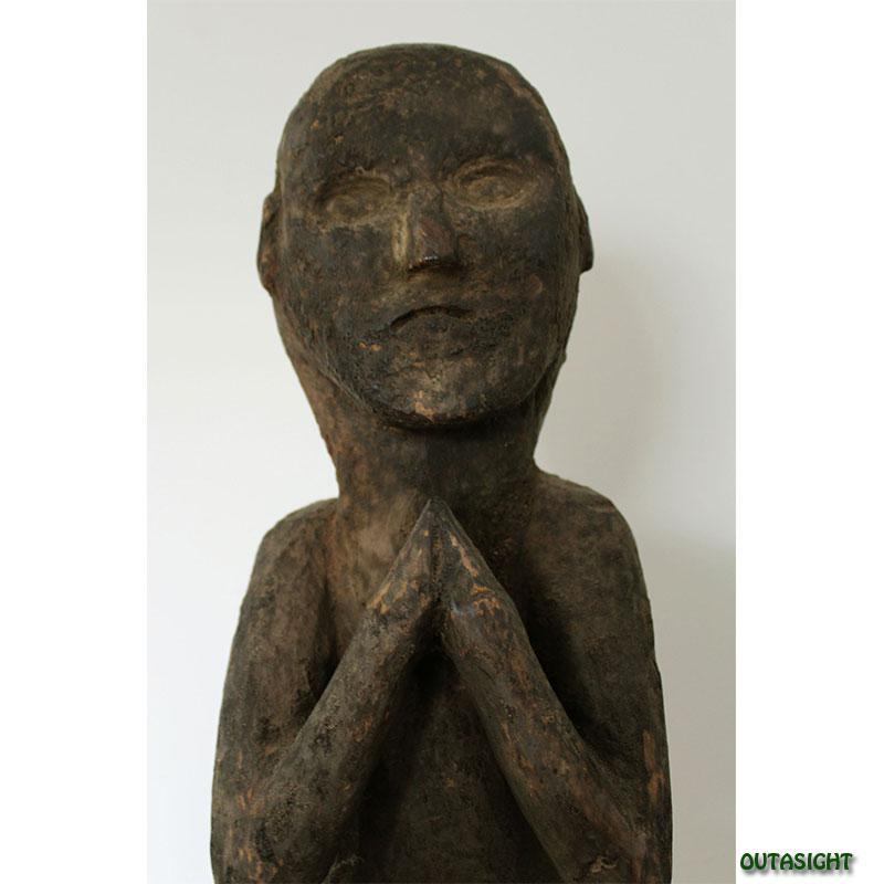 木彫 人物像 ネパール NAS-07