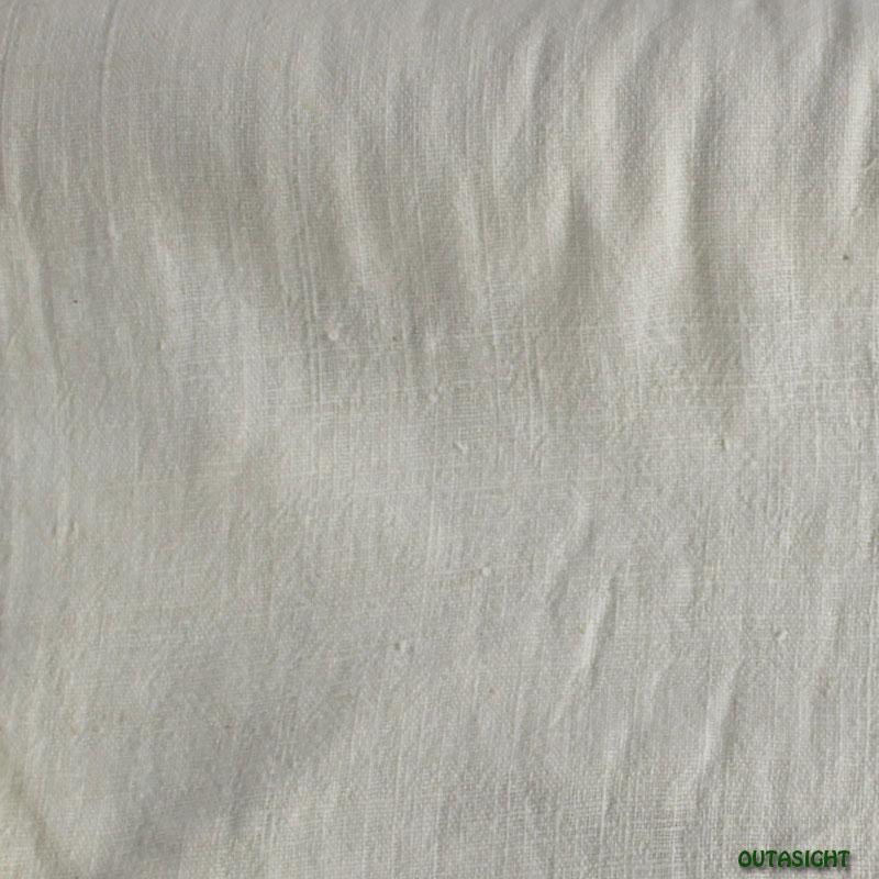 タイ コットン(木綿)反物生地 手紡ぎ 手織 白色B TNT-34