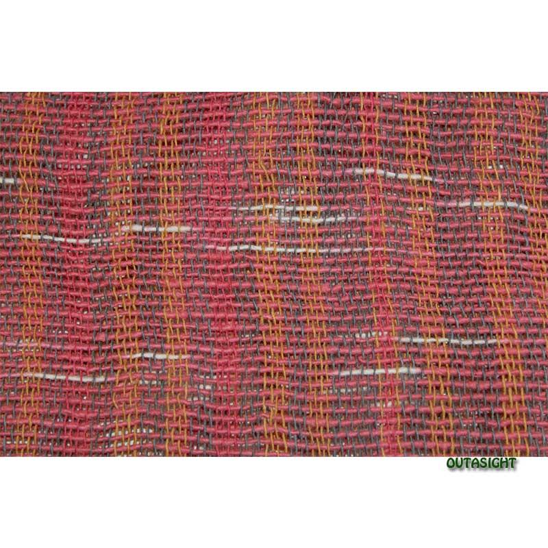 コットンスカーフ 手紡ぎ 手織 経縞緯絣(かすり) タイ TNTS-34