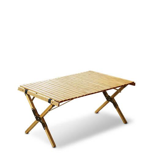 OUTPUTLIFE ウッドロールトップテーブル Sサイズ (ブラック)