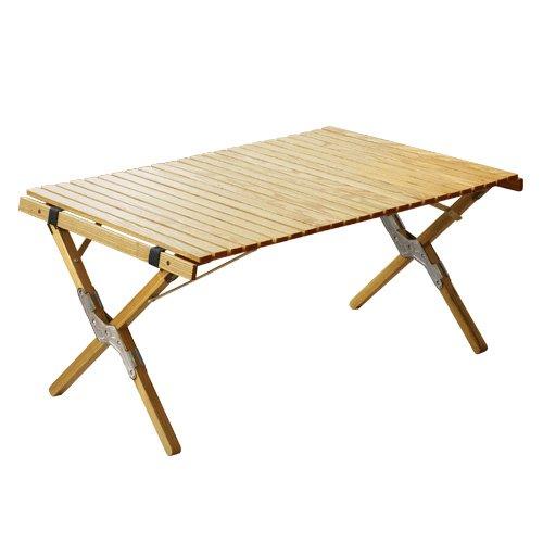 OUTPUTLIFE ウッドロールトップテーブル Sサイズ (シルバー)