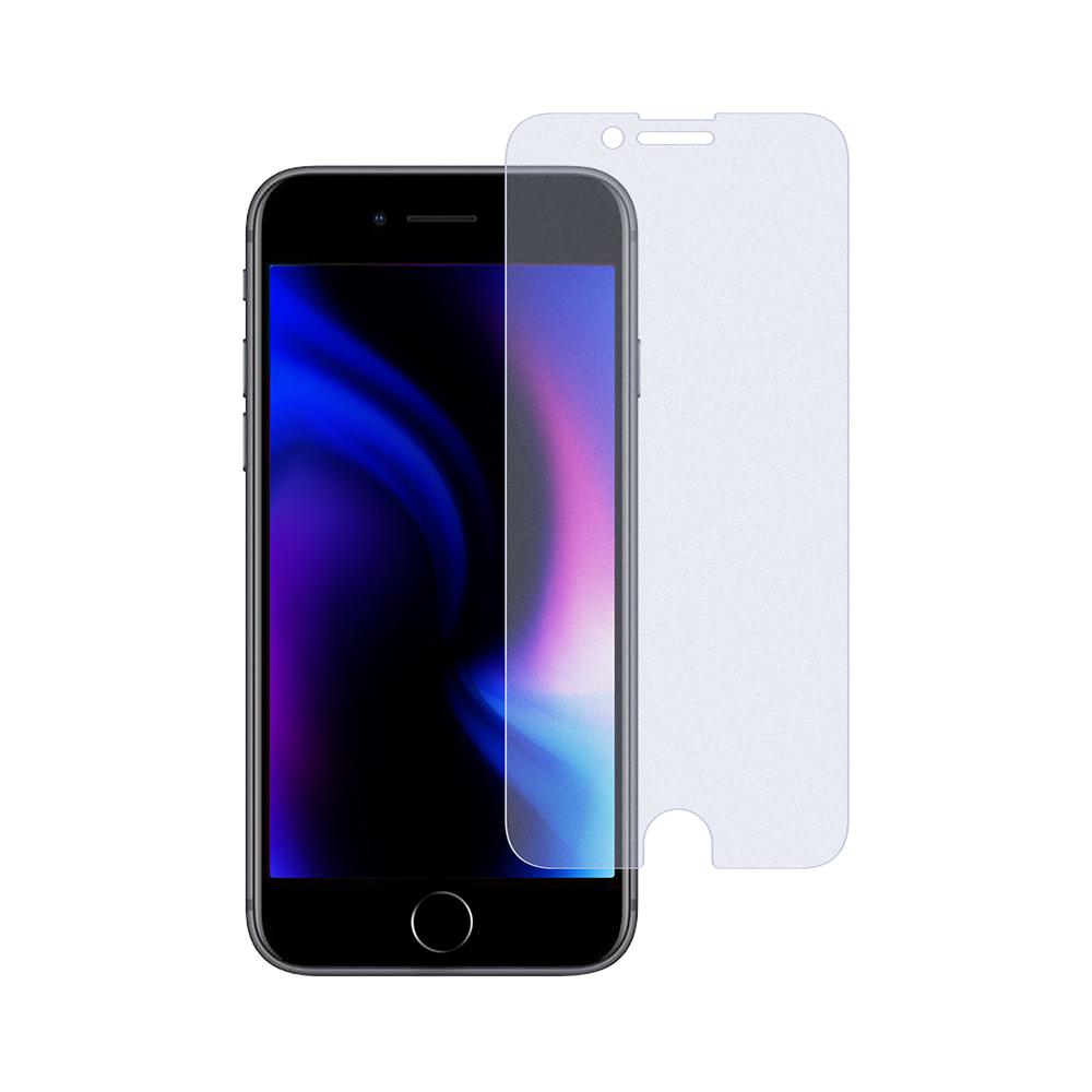 画面保護 強化ガラス  日本メーカー製造 iPhoneSE(第2世代)/8/7/6s対応 マット・ブルーライトカットタイプ(OWL-GSIC47-AB)