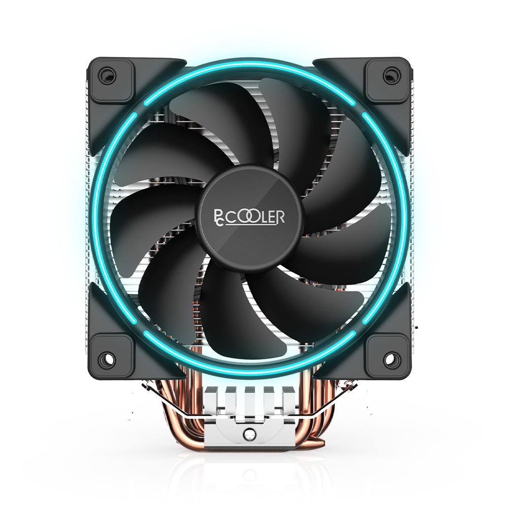 PCCOOLER製 BLUE LEDファン搭載 TDP160W対応 スタンダードCPUクーラー(GI-X5B)