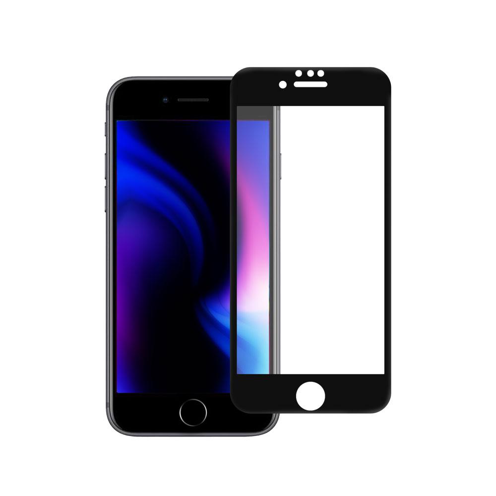 フチが欠けない全面保護 強化ガラス 日本メーカー製造 iPhoneSE(第2世代)/8/7/6s対応 マットタイプ(OWL-GPIC47F-AG)