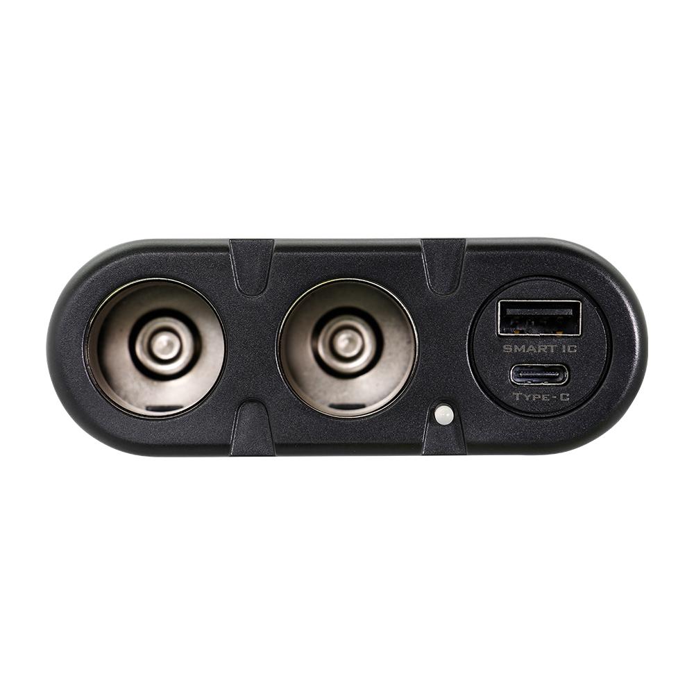 シガーソケット分配器 ダイレクトタイプ USB PD30W対応Type-Cポート搭載 (OWL-CCUCD2D)宅C