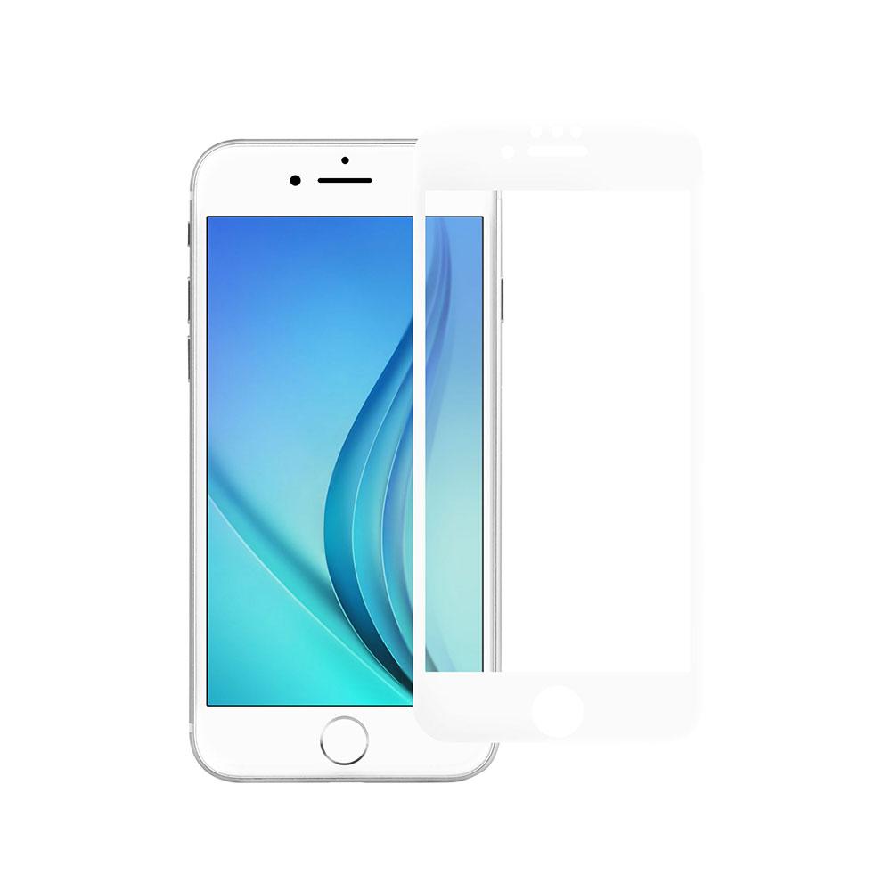 フチが欠けない全面保護 強化ガラス 日本メーカー製造 iPhoneSE(第2世代)/8/7/6s対応 光沢・ブルーライトカットタイプ(OWL-GPIC47F-BC)
