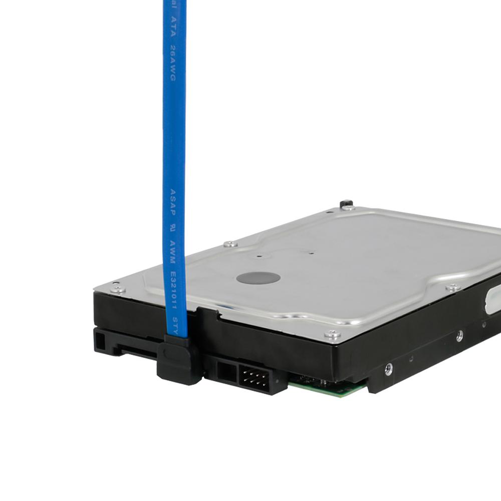 シリアルATA3ケーブル ストレート – 上L型コネクター ラッチなし 6Gbps対応 50cm(OWL-SATA3SLT50)