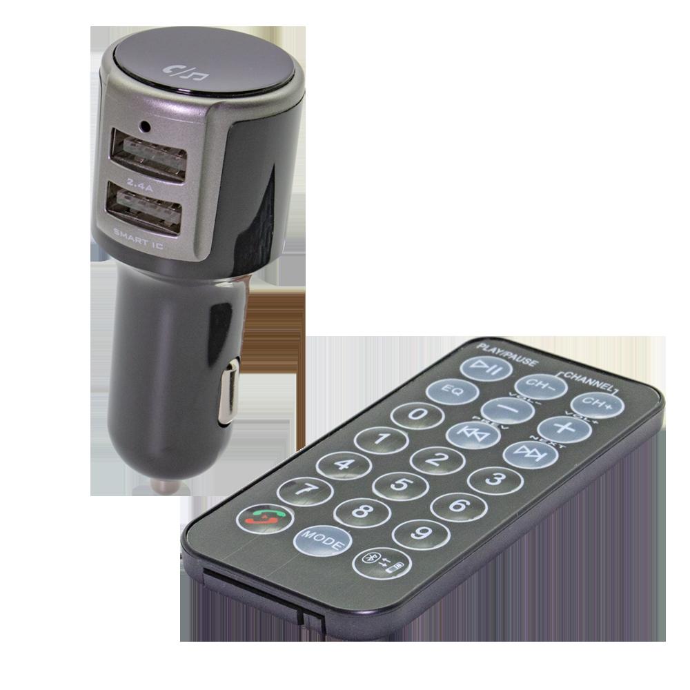 FMトランスミッター Bluetooth+USBポート付き(OWL-BTFMU001)宅C