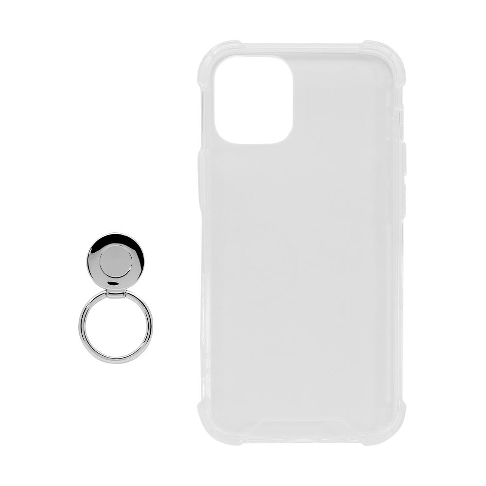 iPhone 12 mini (5.4インチ) 用 落下防止リング付き 耐衝撃ハイブリッド ケース(OWL-CVIC5407)宅C