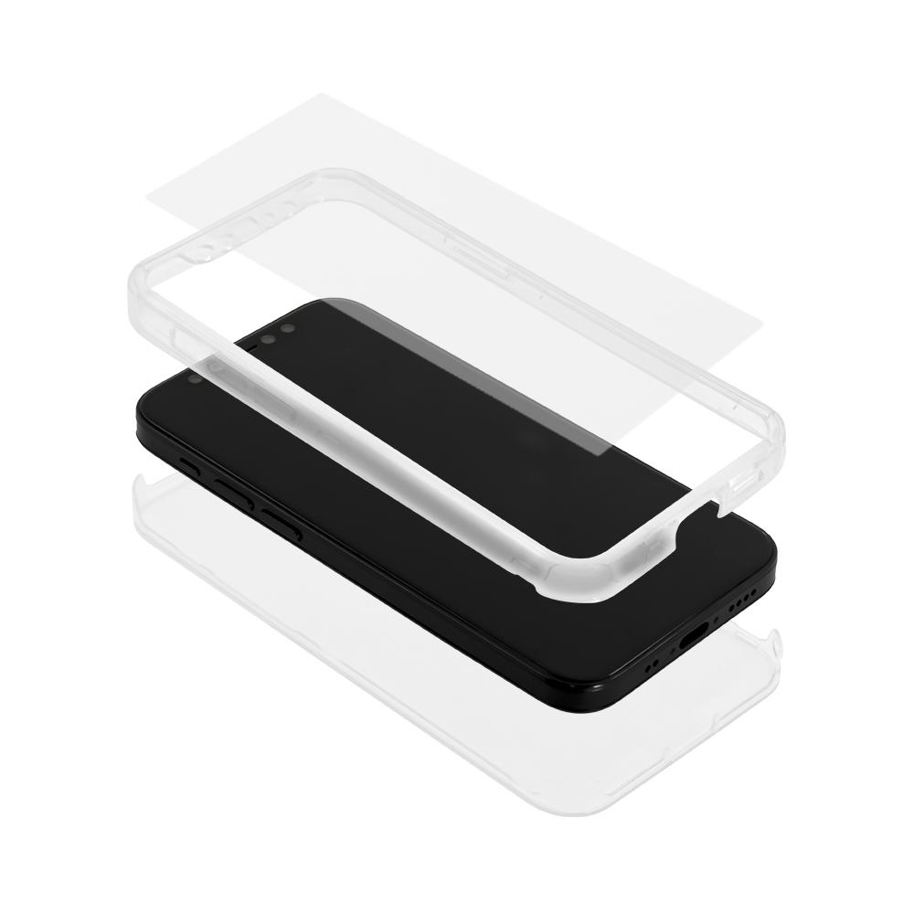 iPhone 12 mini (5.4インチ) 用 360°包み込んでキズから守る 画面保護マットガラス付きフルカバーハードケース(OWL-CVIC5411) 宅C