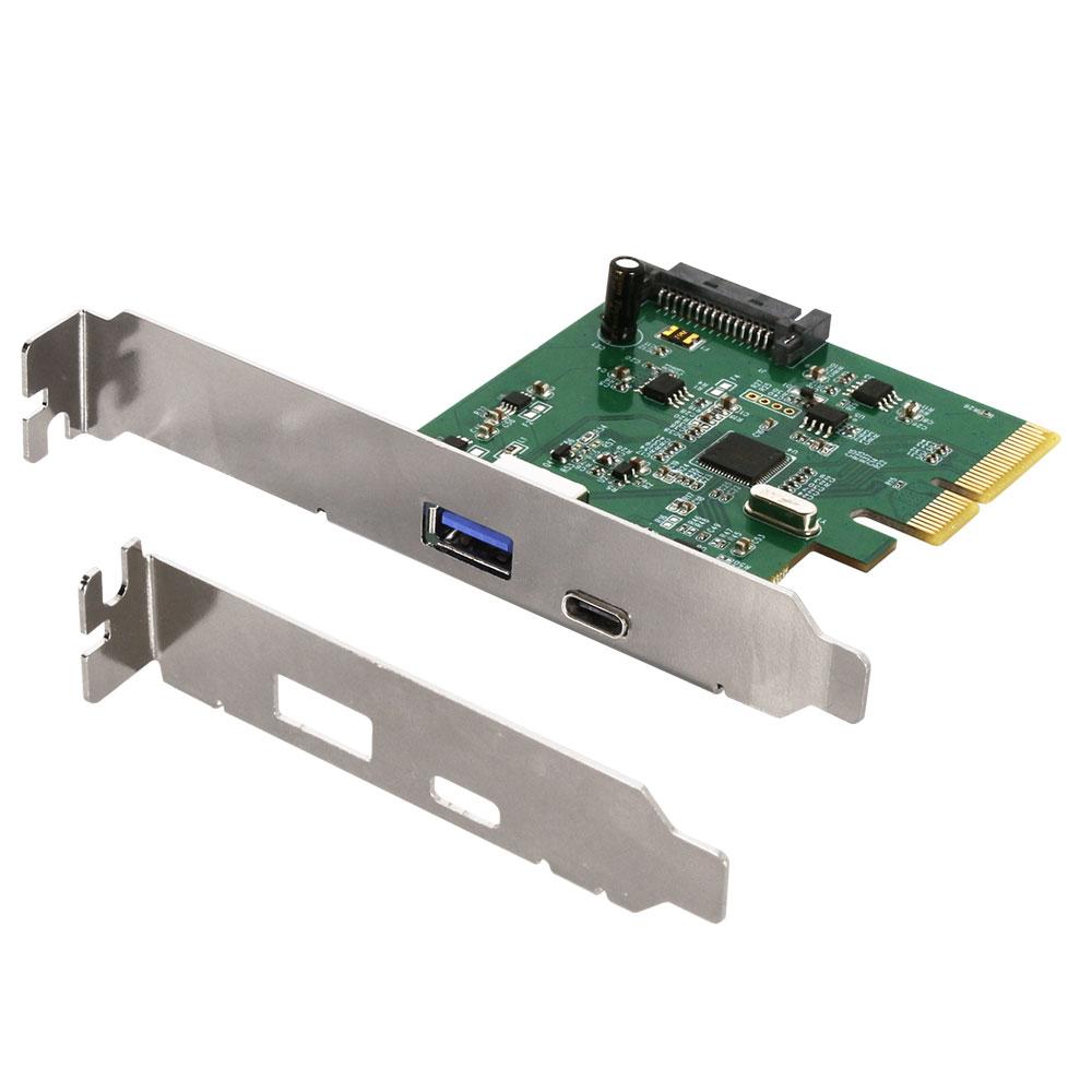 インターフェースボード PCI-Express接続 高速USB3.1(Gen2) USB Type-A/USB-Type-C(OWL-PCEXU31C1)