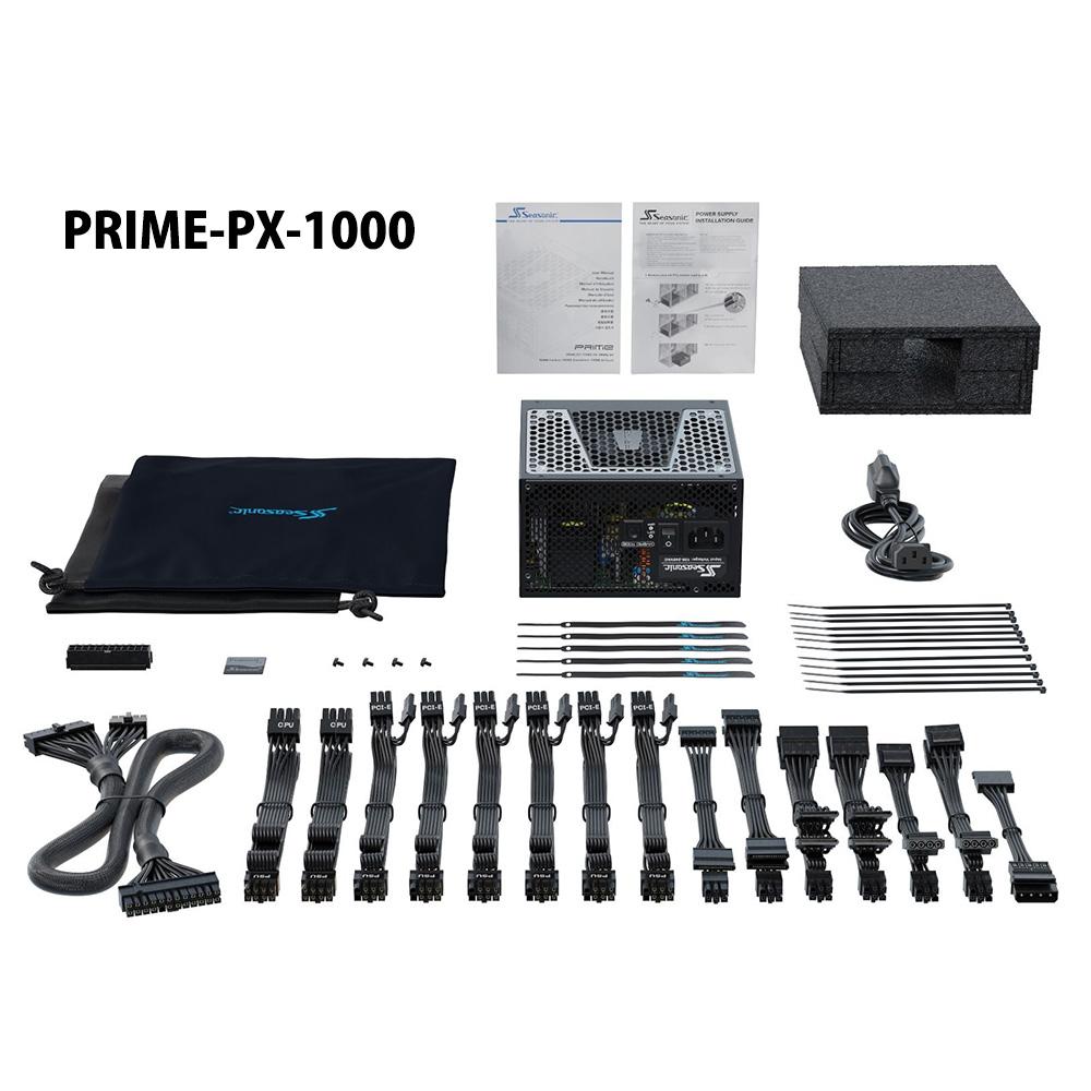 Seasonic製 80PLUS Platinum認証取得 ATX電源 PRIME PX 1000W(PRIME-PX-1000)