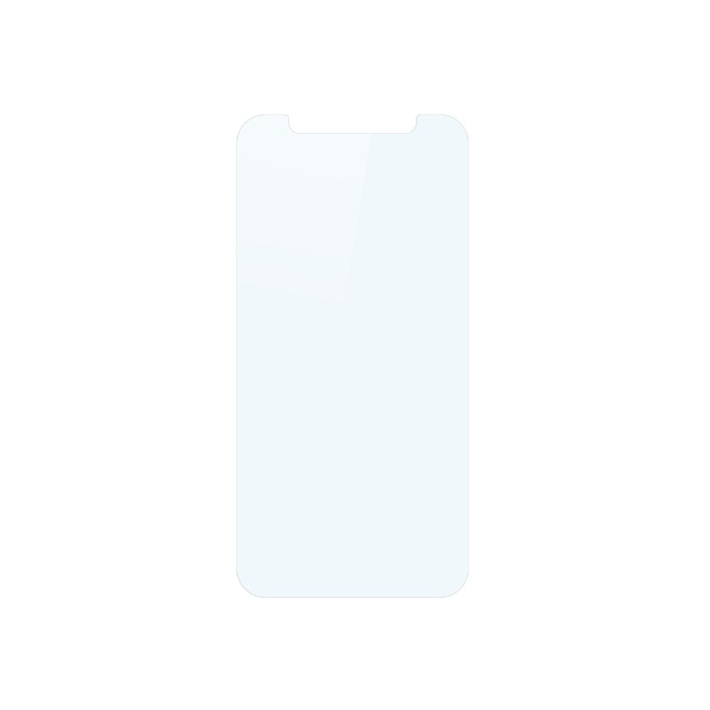 iPhone 12 mini (5.4インチ) 用 貼りミスゼロ かんたん3ステップ貼り付けキット付き 画面保護 強化ガラス 光沢ブルーライトカット(OWL-GSIC54-BC) 宅C