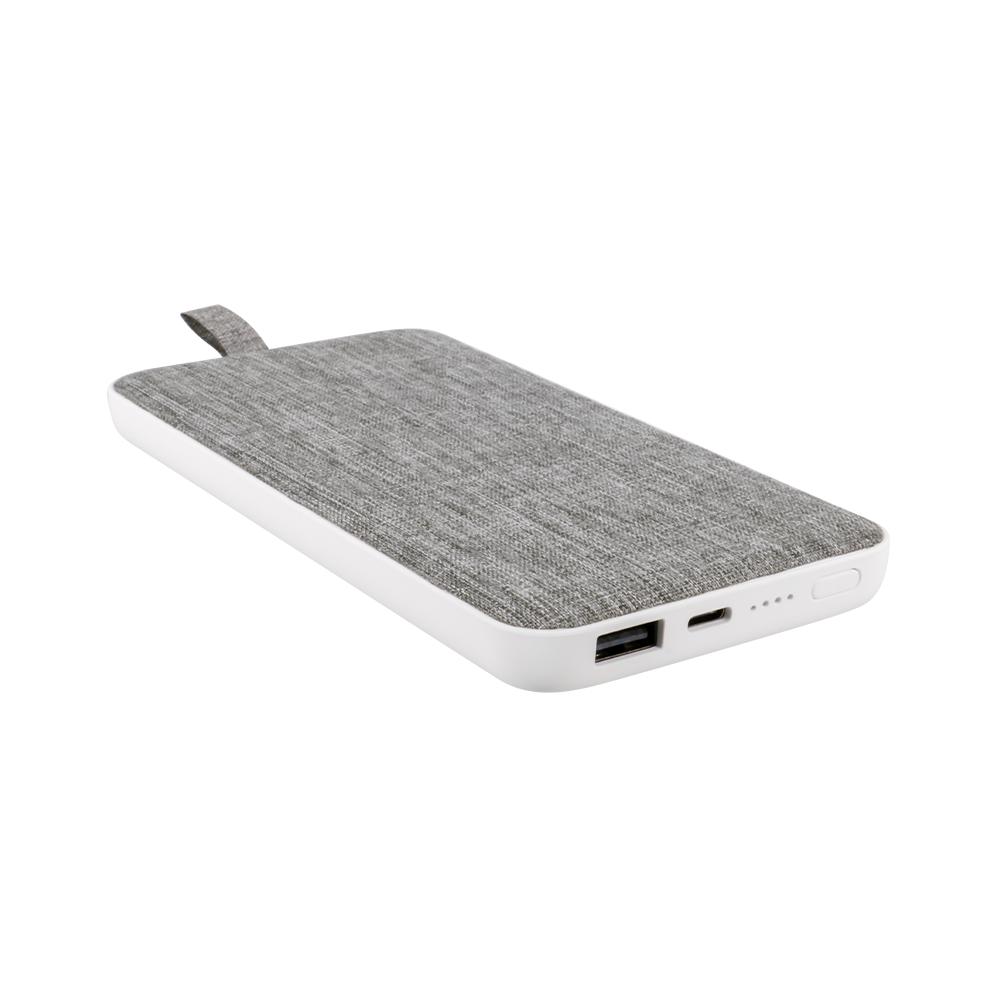 モバイルバッテリー ファブリック素材 薄くて大容量10,000mAh SmartIC搭載 PSE適合商品(OWL-LPB10009)宅C