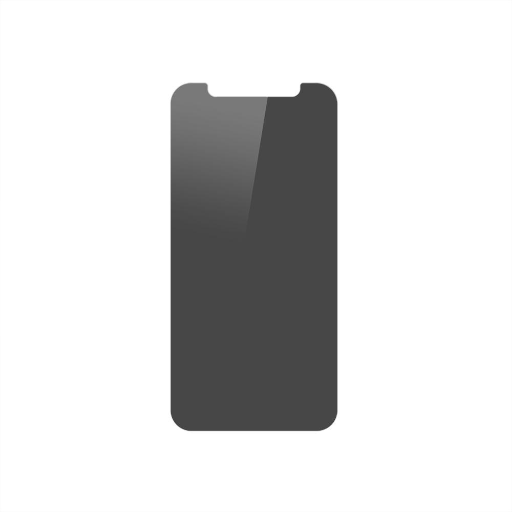 iPhone 12 mini (5.4インチ) 用 貼りミスゼロ かんたん3ステップ貼り付けキット付き 画面保護 強化ガラス のぞき見防止(OWL-GSIC54-PS) 宅C