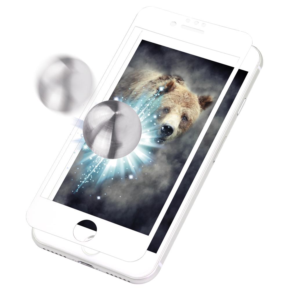 iPhone 8/7/6s/6対応 耐衝撃 全面保護 強化ガラス 太陽や照明の反射を抑える アンチグレアタイプ(OWL-GTIP7SF-AG)