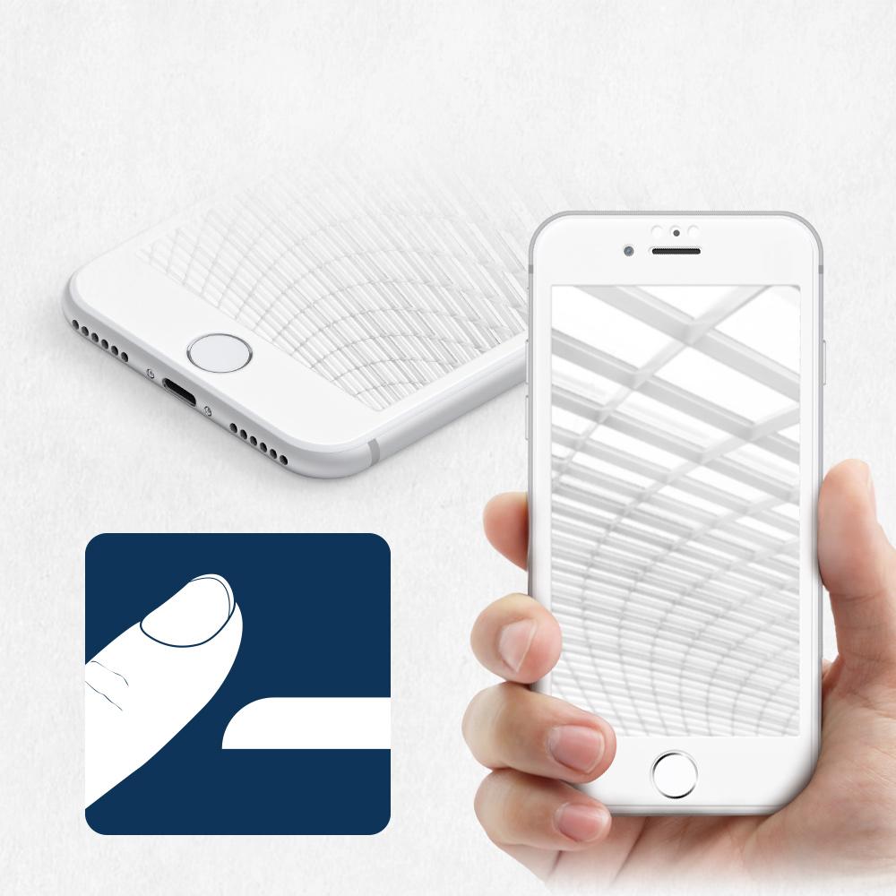 iPhone 8/7/6s/6対応 耐衝撃 全面保護 強化ガラス クリアで画面鮮やか(OWL-GTIP7SF-CL)