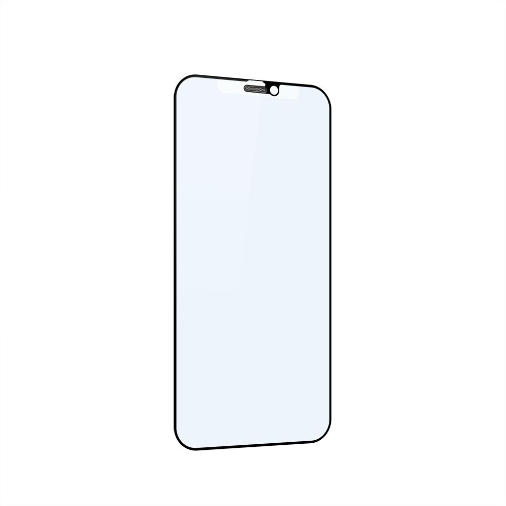 iPhone 12 mini (5.4インチ) 用 貼りミスゼロ かんたん3ステップ貼り付けキット付き 全面保護 強化ガラス マットブルーライトカット(OWL-GSIC54F-AB) 宅C