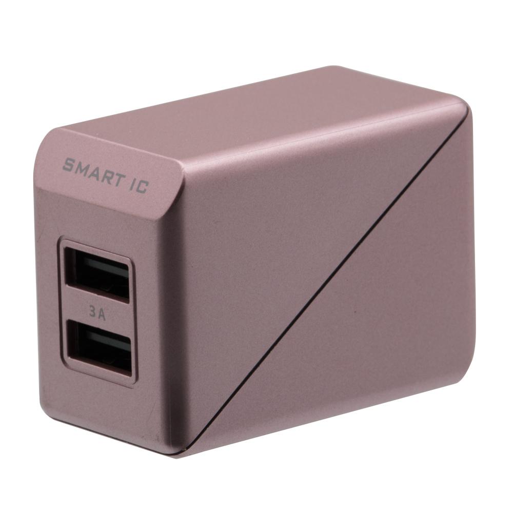 Smart IC対応 急速充電 合計3A出力対応 AC充電器(OWL-ACU2F3S)