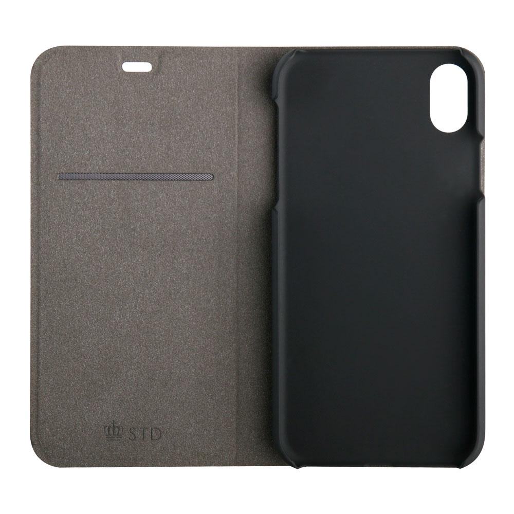 iPhone XR 6.1インチ 手帳型ケース PUレザー カーボン調(OWL-CVIA6108)