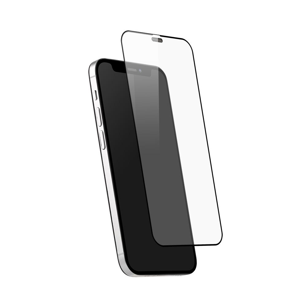 iPhone 12 mini (5.4インチ) 用 貼りミスゼロ かんたん3ステップ貼り付けキット付き 全面保護 強化ガラス 抗菌(OWL-GSIC54F-AN) 宅C