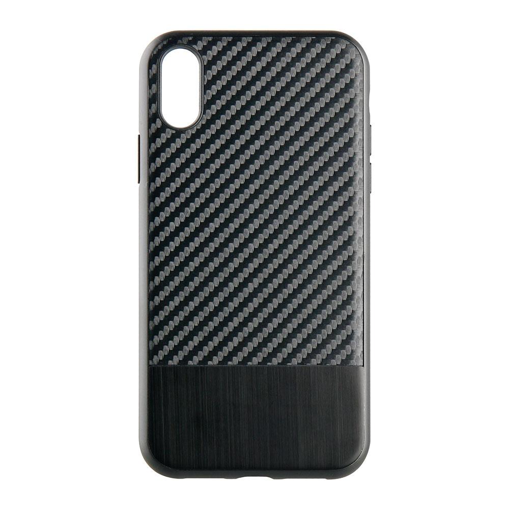 iPhone XR 6.1インチ ハイブリッドケース カーボン調(OWL-CVIA6109)