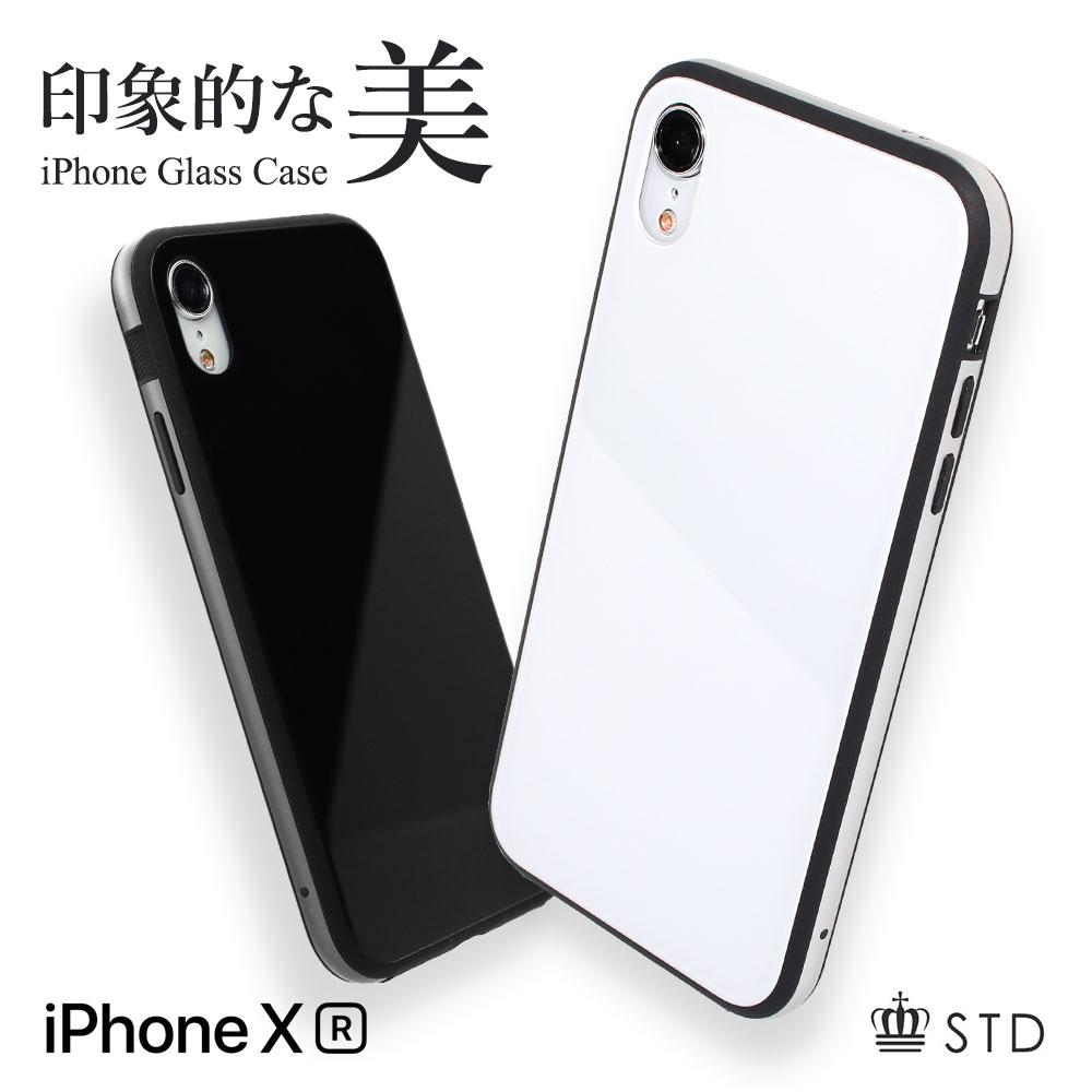iPhone XR 6.1インチ ハイブリッド+ガラス背面ケース(OWL-CVIA6113)