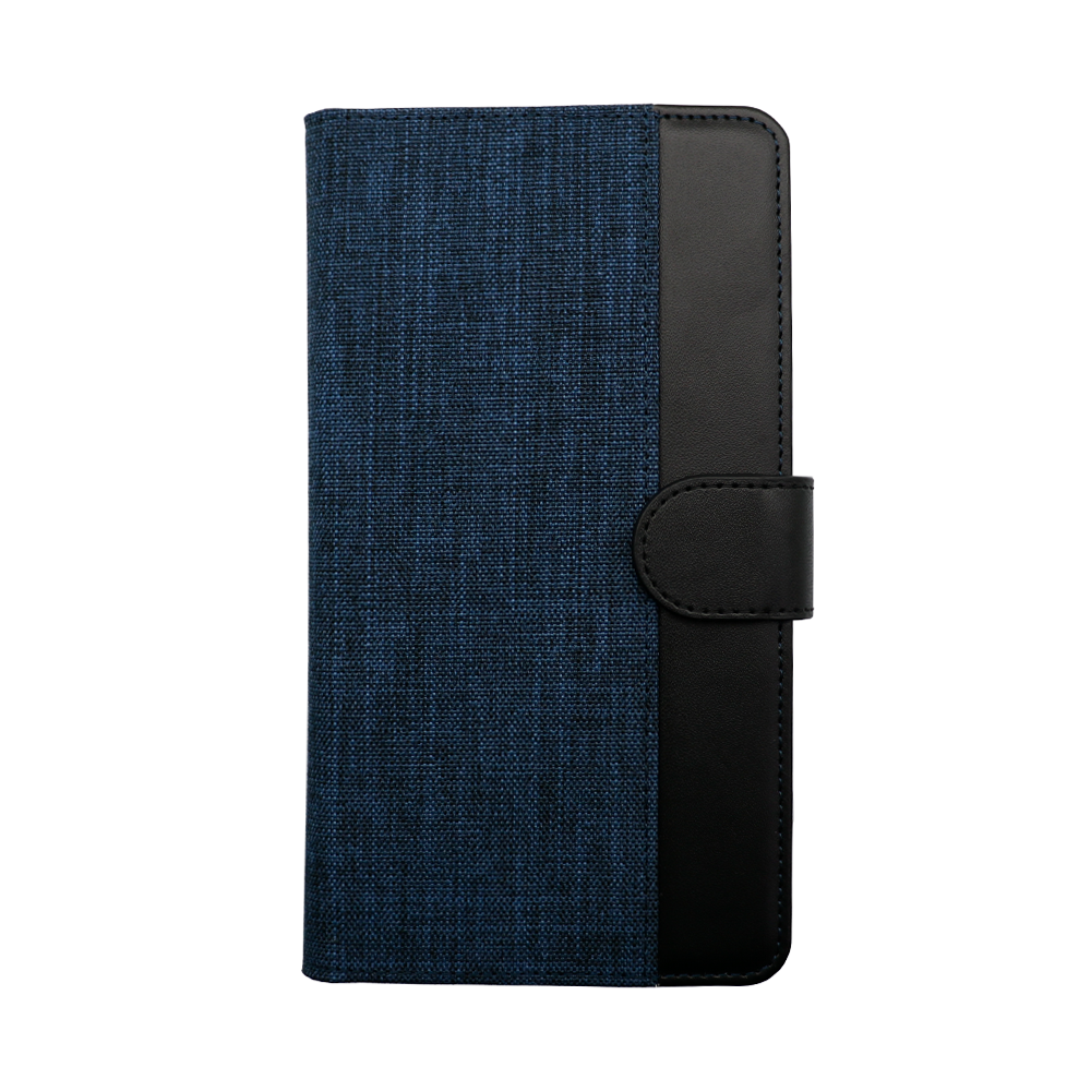 大型スマートフォン対応 ホルダータイプ ファブリック生地×PUレザー 手帳型 マルチケース (OWL-CVMUL01)宅C