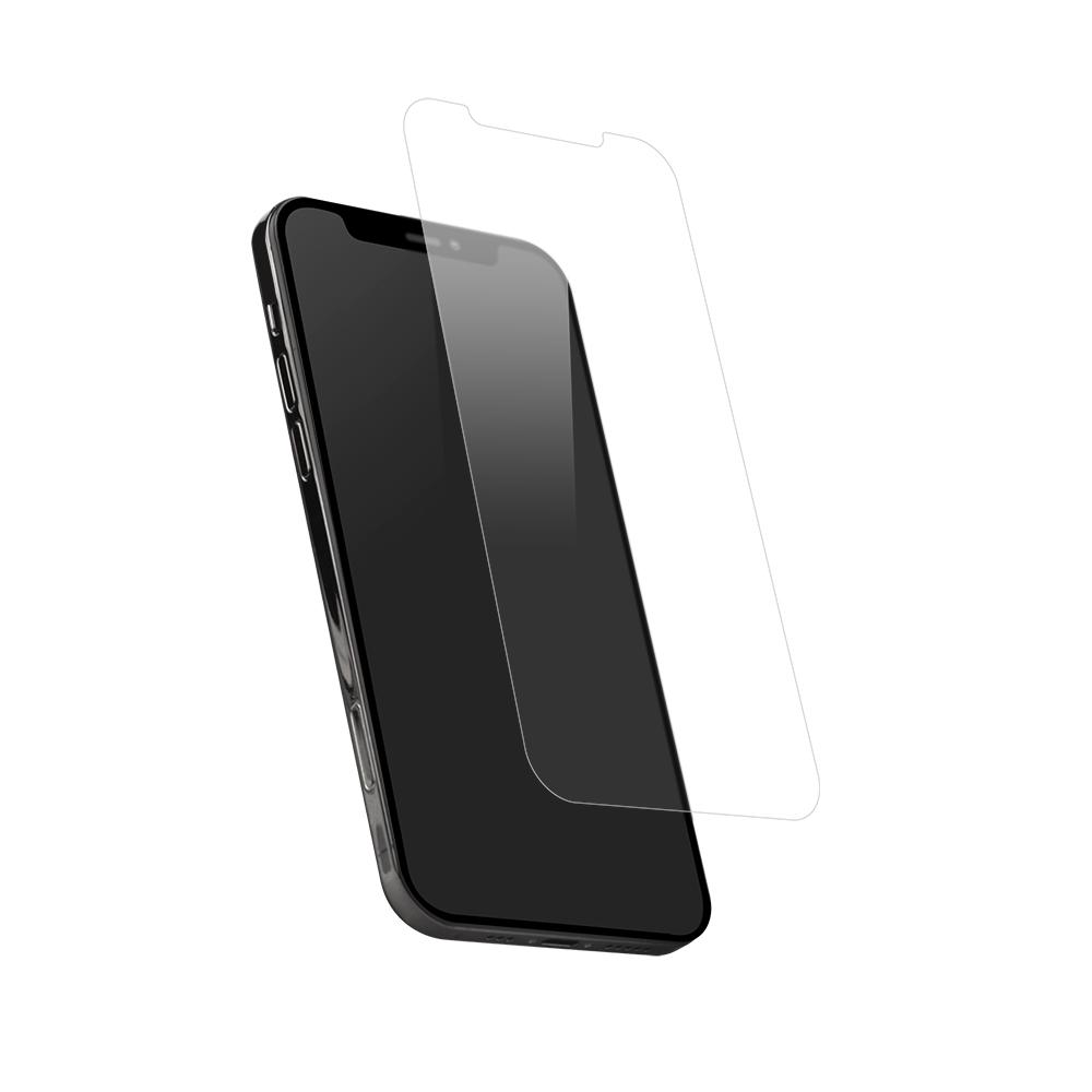 iPhone12/12Pro対応 (6.1インチ) 用 貼りミスゼロ かんたん3ステップ貼り付けキット付き 画面保護 強化ガラス 光沢(OWL-GSIC61-CL) 宅C