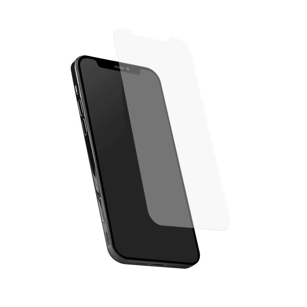 iPhone12/12Pro対応 (6.1インチ) 用 貼りミスゼロ かんたん3ステップ貼り付けキット付き 画面保護 強化ガラス マット(OWL-GSIC61-AG) 宅C