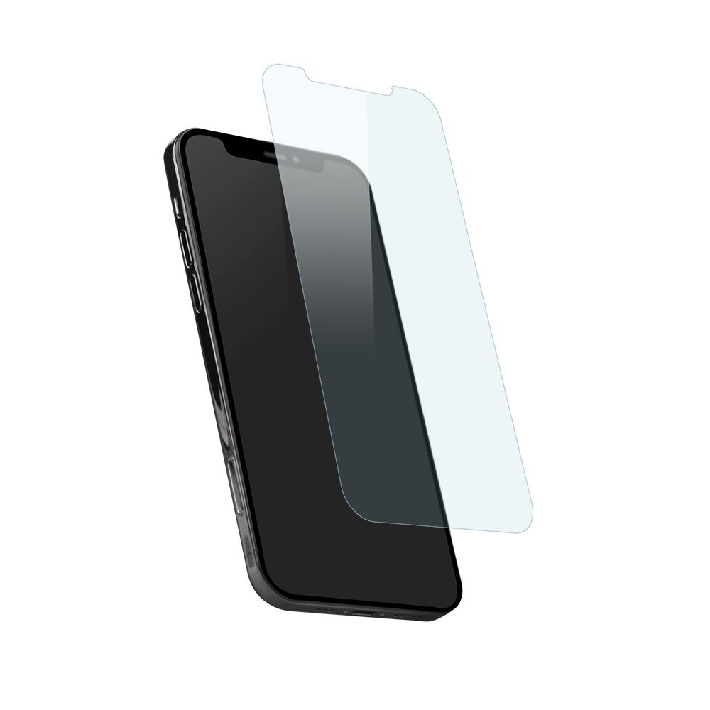 iPhone12/12Pro対応 (6.1インチ) 用 貼りミスゼロ かんたん3ステップ貼り付けキット付き 画面保護 強化ガラス 光沢ブルーライトカット(OWL-GSIC61-BC) 宅C