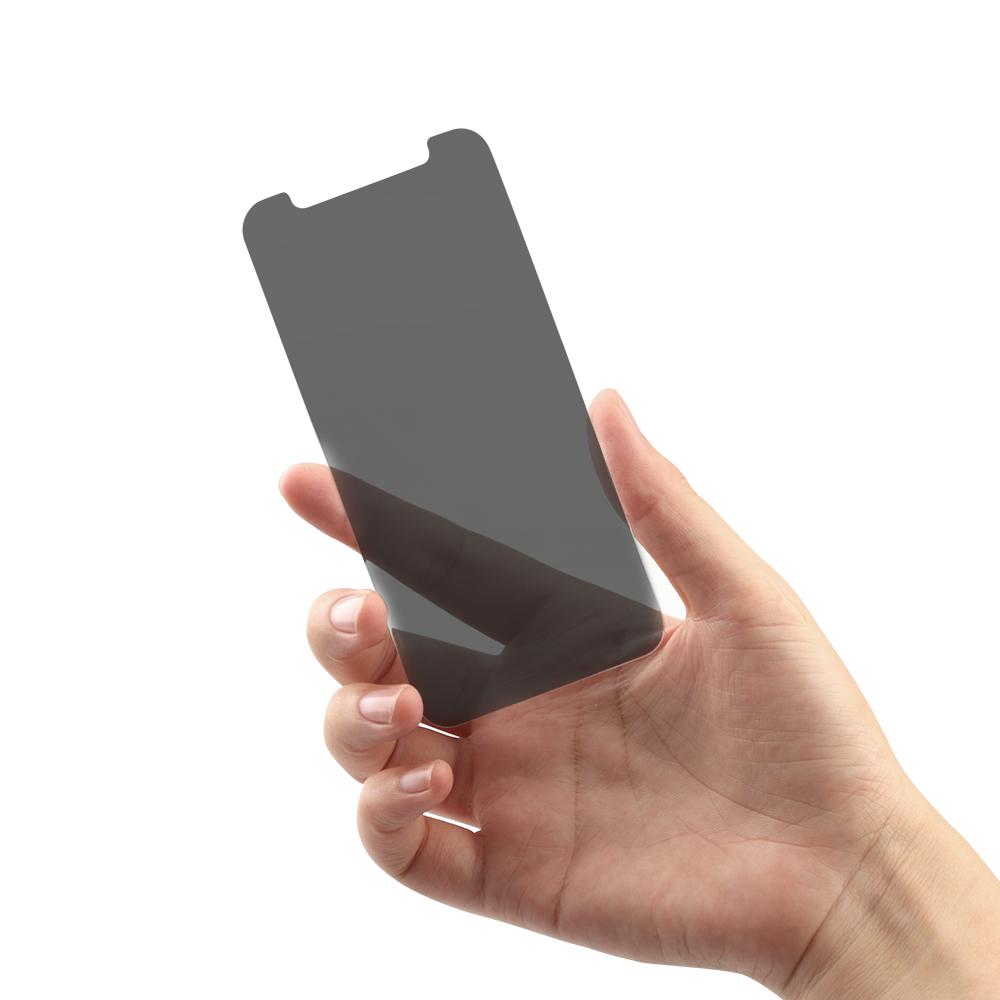iPhone12/12Pro対応 (6.1インチ) 用 貼りミスゼロ かんたん3ステップ貼り付けキット付き 画面保護 強化ガラス のぞき見防止(OWL-GSIC61-PS) 宅C