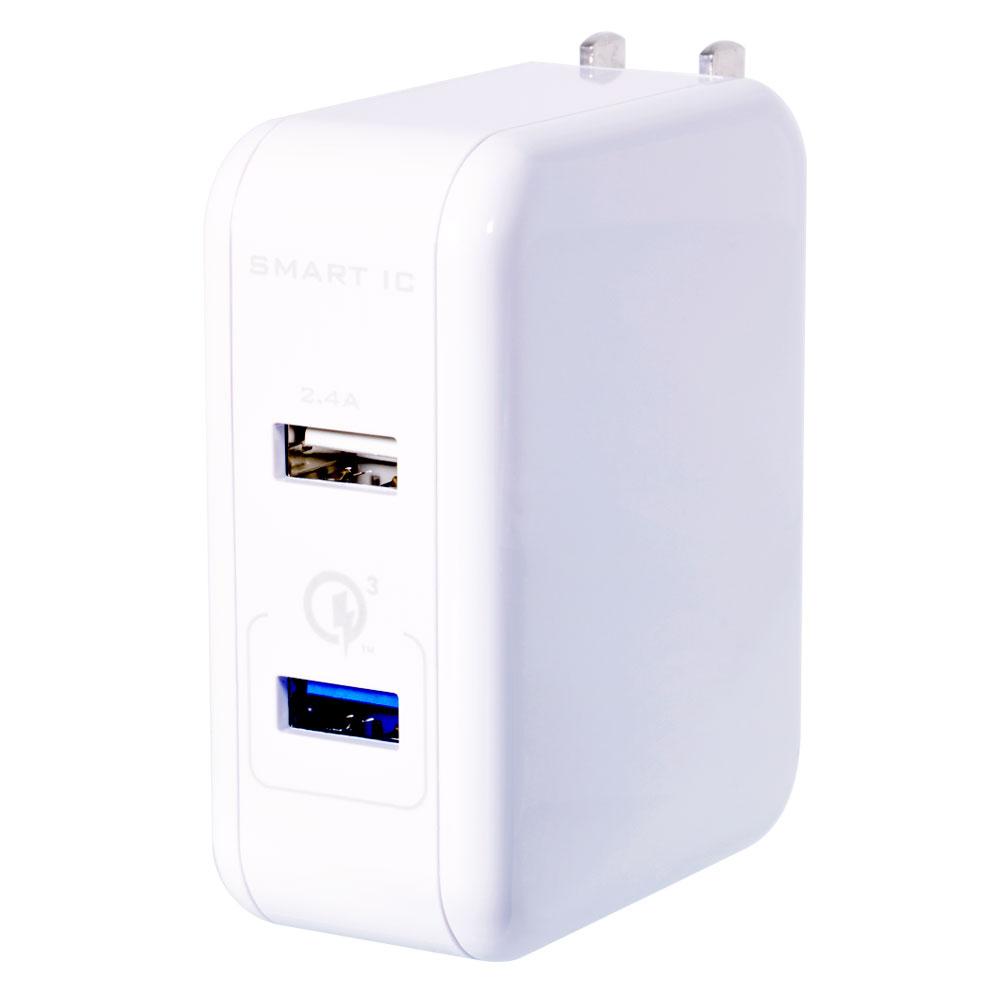 AC充電器 Quick Charge 3.0/Smart IC搭載(OWL-ACQ3U254)宅C