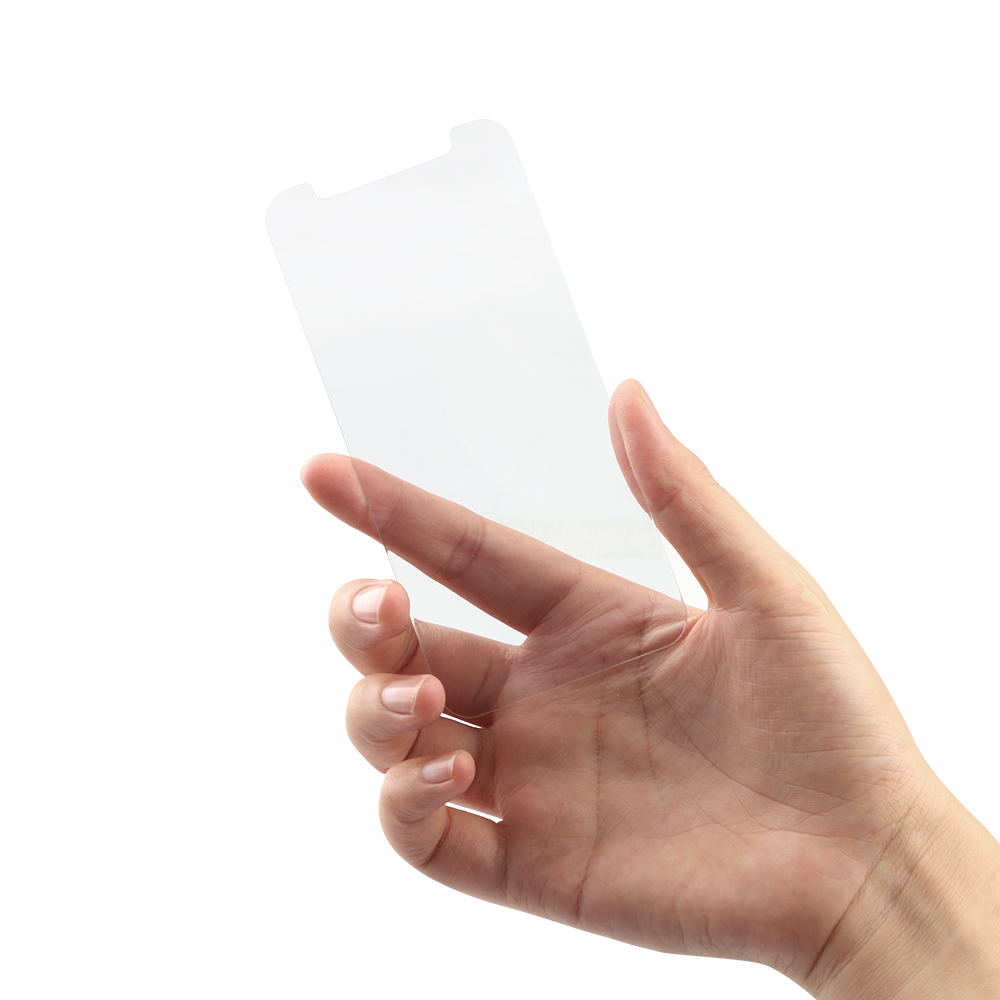 iPhone12/12Pro対応 (6.1インチ) 用 貼りミスゼロ かんたん3ステップ貼り付けキット付き 画面保護 強化ガラス 抗菌(OWL-GSIC61-AN) 宅C