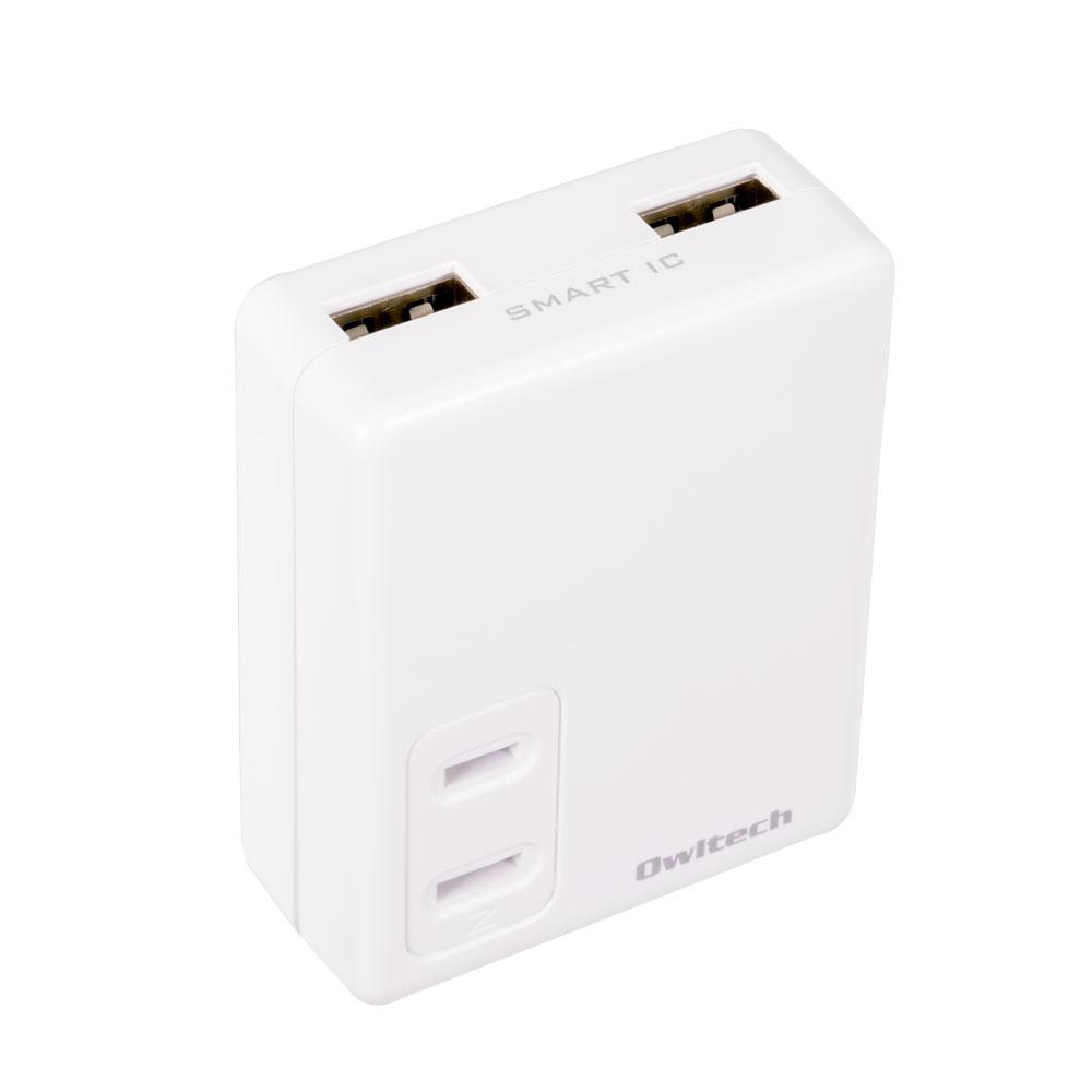 マルチAC充電器 ACコンセント搭載 同時かしこく充電(OWL-ACUS2A1)宅C