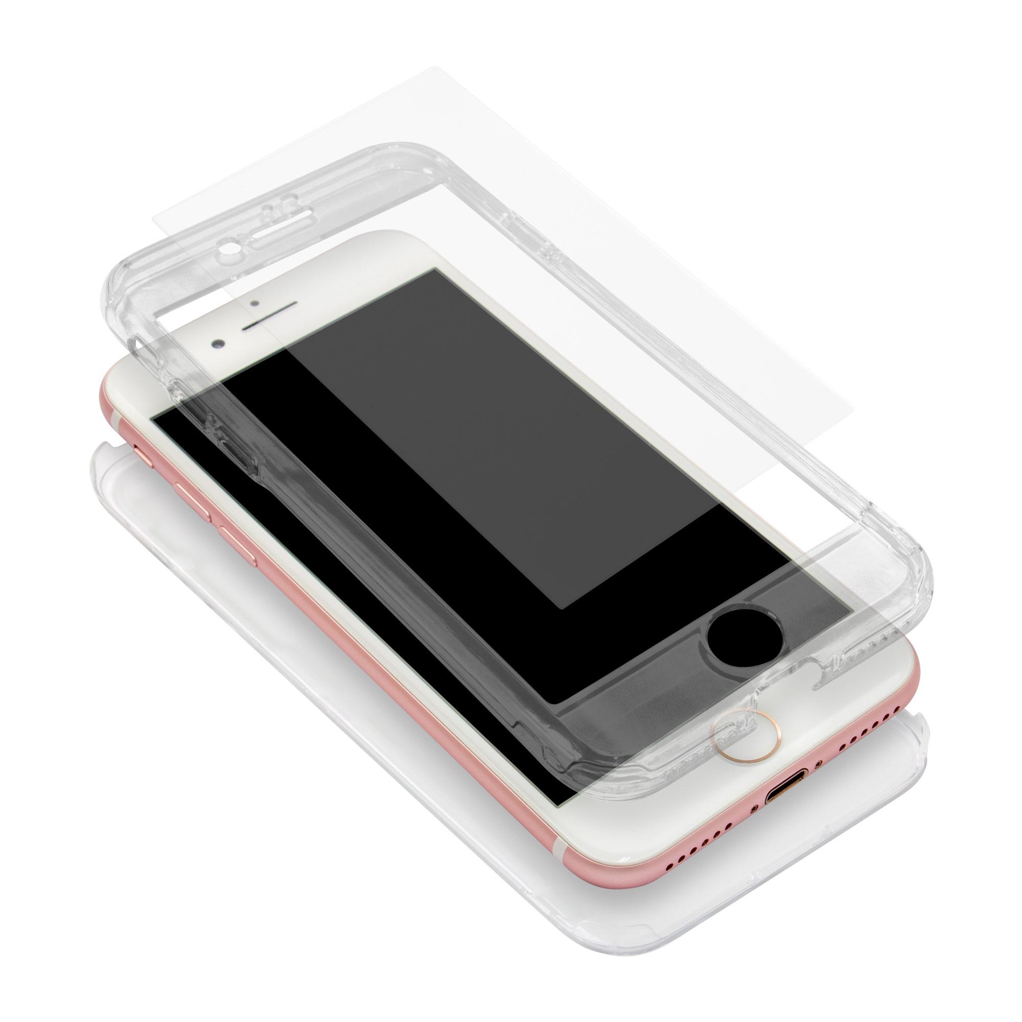 360度フルカバーケース iPhone8/7対応 液晶保護ガラス付き(OWL-CVIA4719)宅C