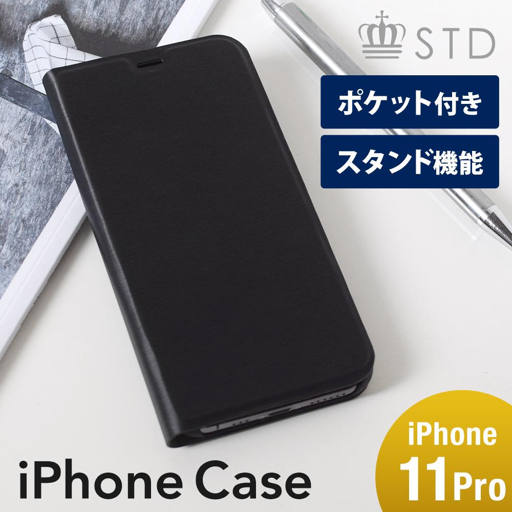 iPhone 11 Pro対応 ヘアラインデザイン 手帳型ケース(OWL-CVIB5802)宅C